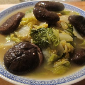 Napa Cabbage with Braised Mushrooms