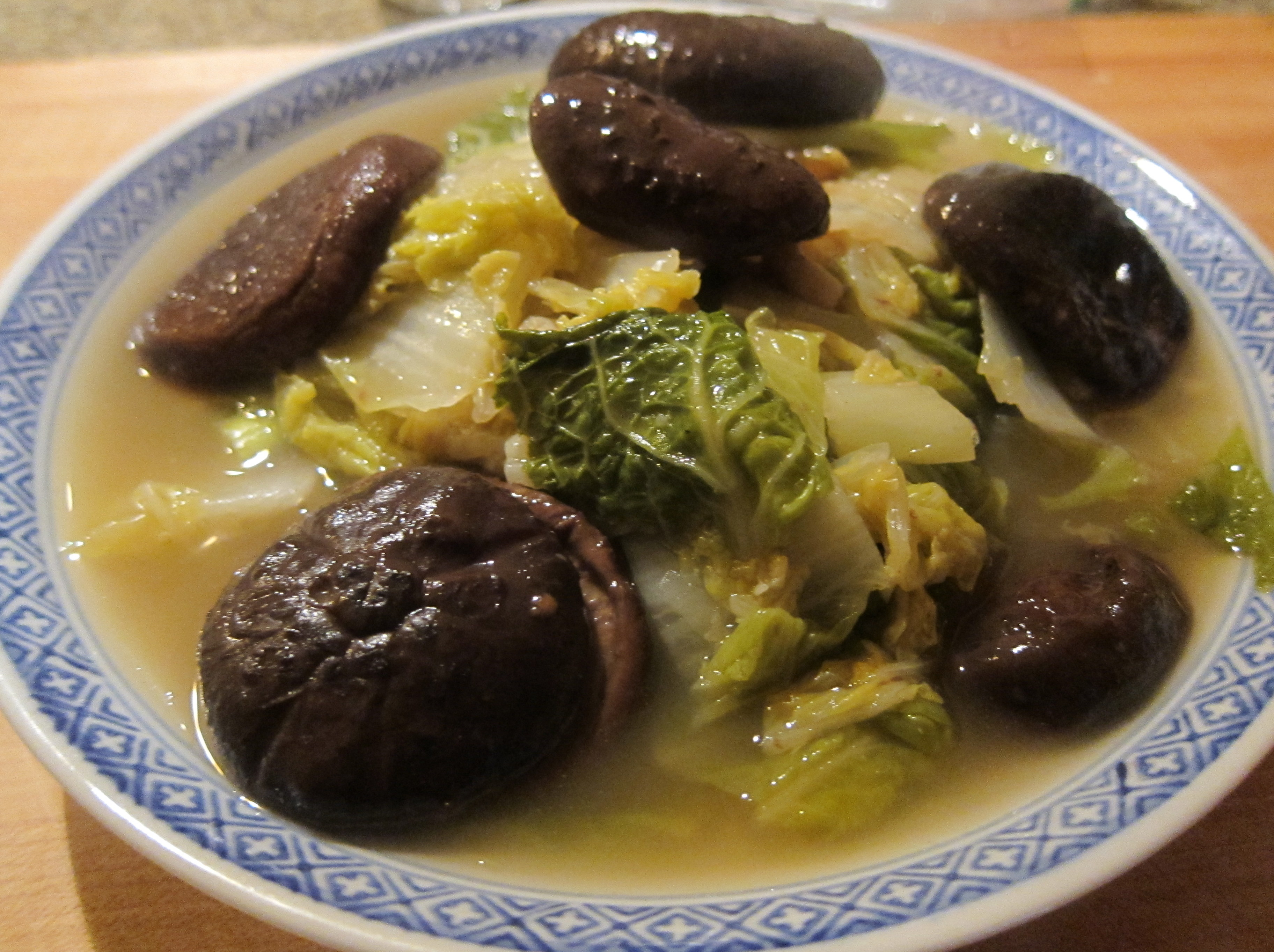 Napa Cabbage With Braised Mushrooms Gow S Takeout