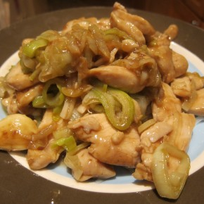 Stir-fried Chicken with Leeks