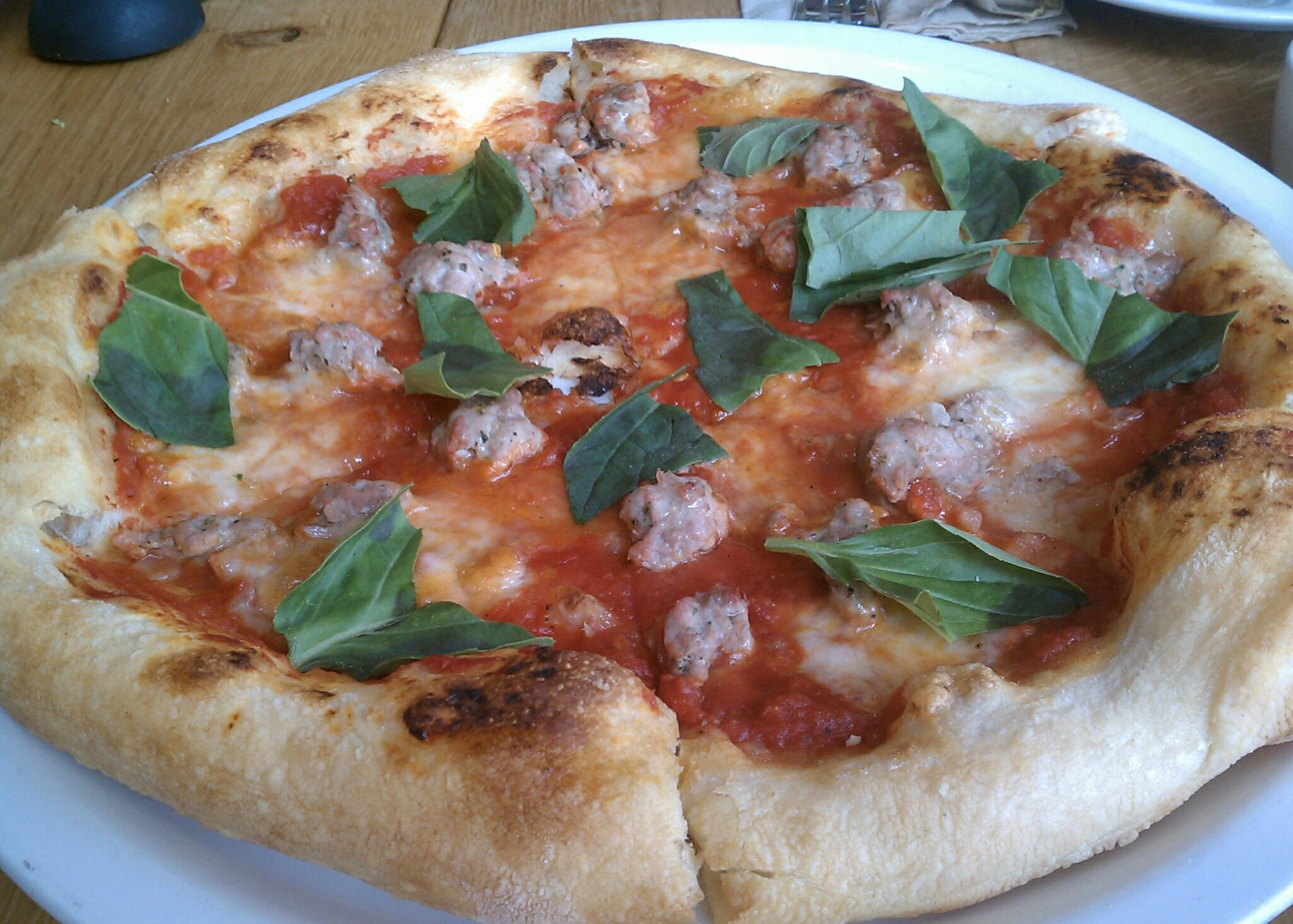 Margherita with sausage
